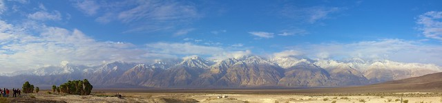 A snowy morning in Saline Valley