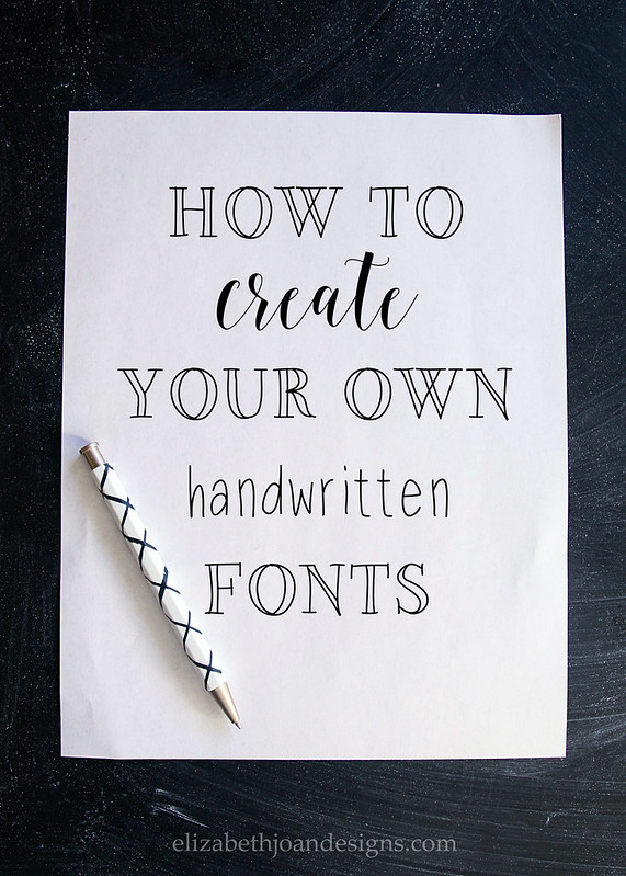 How To Create Your Own Handwritten Fonts