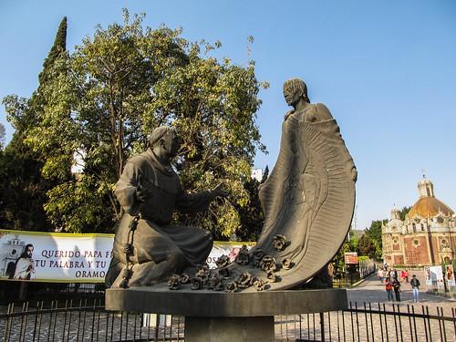 Mexico City: la tunique miraculeuse de Juan Diego arborant l'image de la Vierge
