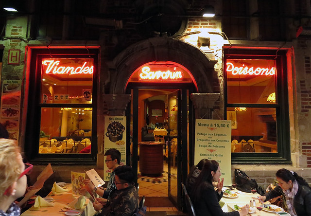 Inside the Delirium Pub in Brussels, Belgium
