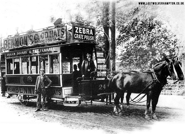 The first trams to travel down Pipers Row were Horse Drawn.