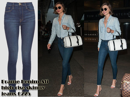 Frame Denim Ali high rise skinny jeans with a denim shirt: Double denim – Chic traveller