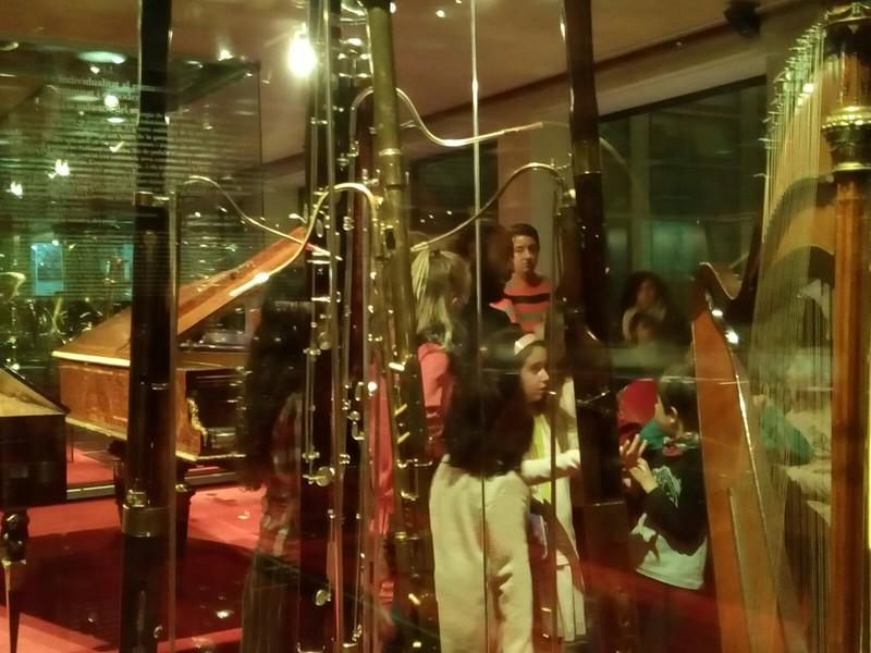 L'aula d'arpa al Museu de la Música de Barcelona