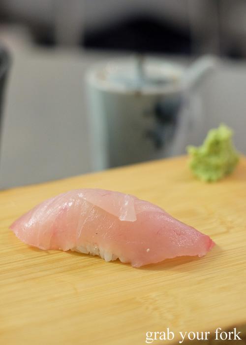 Samson sushi at Sashimi Shinsengumi, Crows Nest