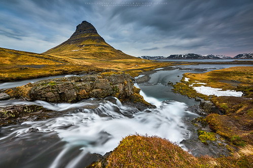 mountain snow water clouds sunrise river easter landscape flow iceland path nikkor kirkjufell travelphotography 1424 d810 cresende progrey