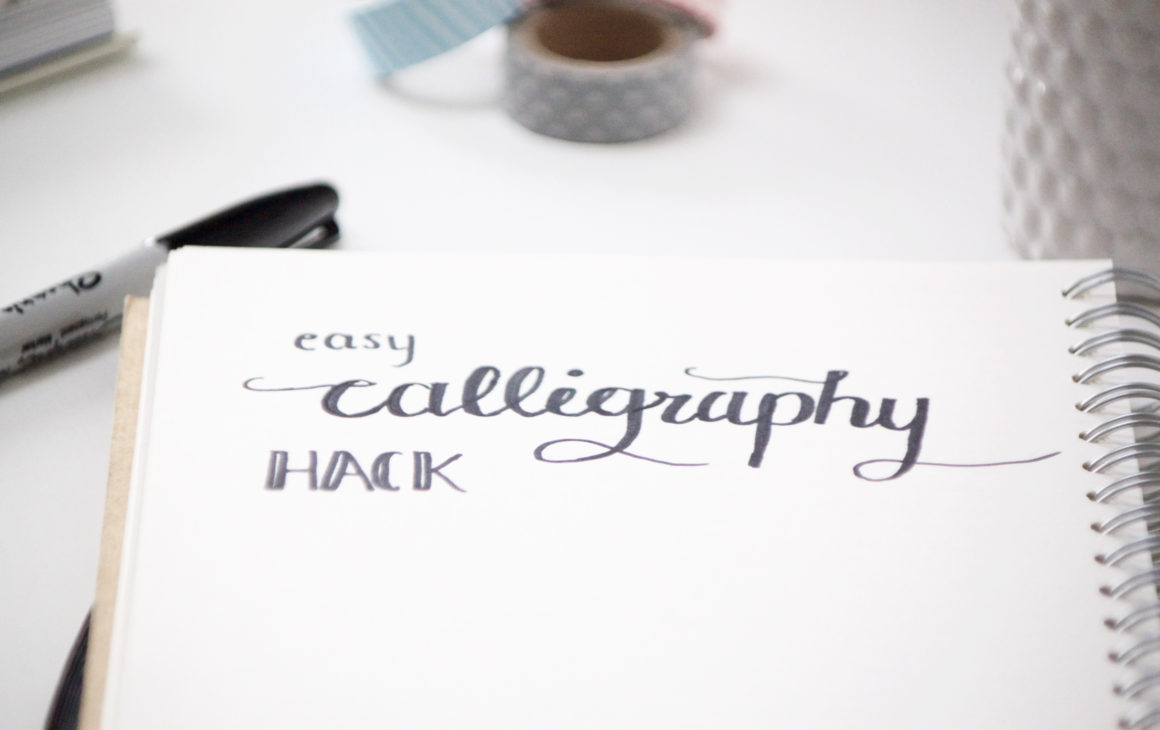 Easy Calligraphy Hack | www.hannahemilylane.com