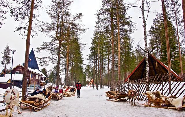 Magical Santa Claus village