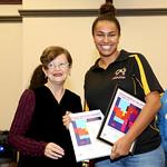 Deputy Lord Mayor Irene Doutney presents the Community-minded Award to Celeste Carnegie
