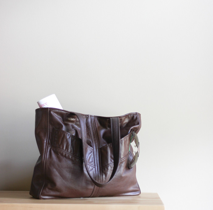 New Recycled Leather Bag