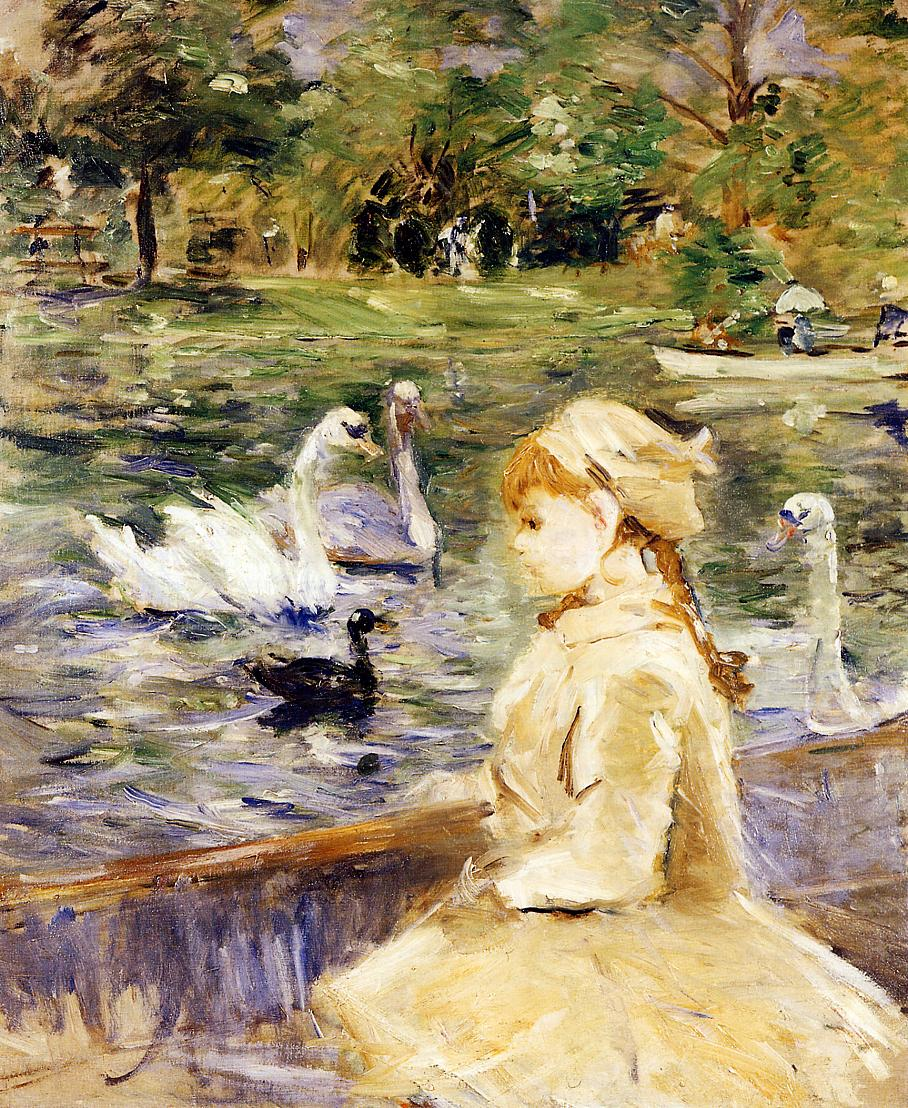 On the Lake by Berthe Morisot, 1884