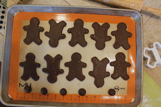 "Line Cookie Sheet with Non-Stick Liner & Place Cookies about 1/2"" Apart"