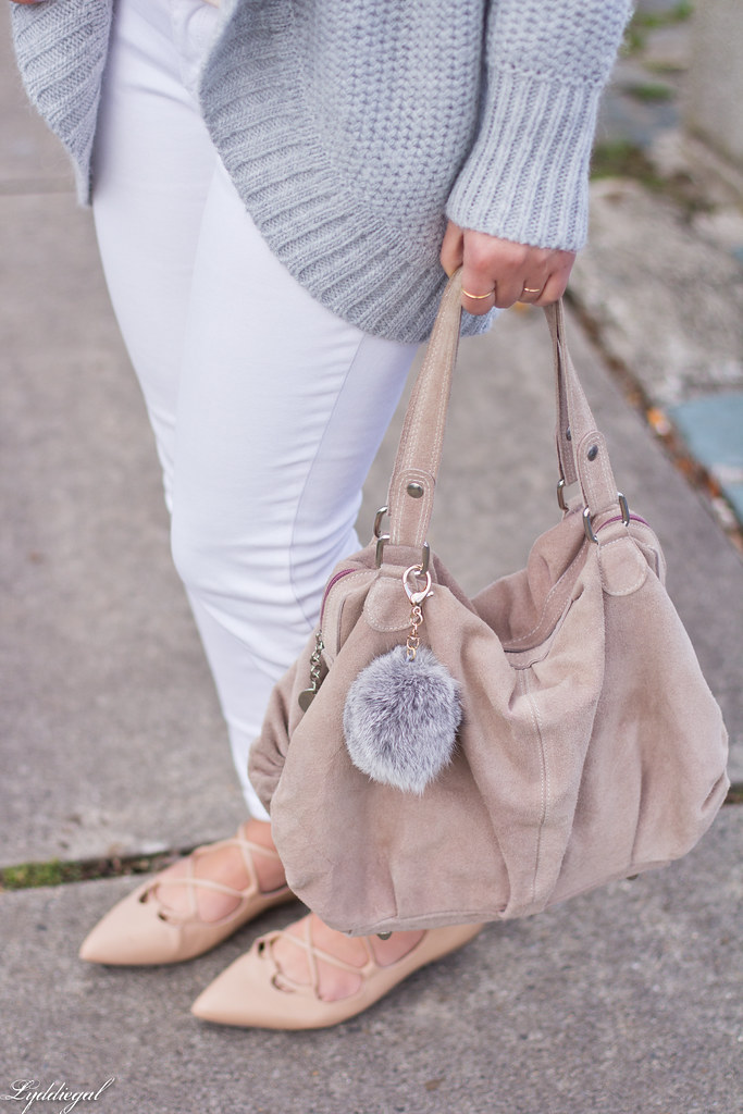 blush pink blouse, grey cardigan, white denim, lace-up flats-3.jpg
