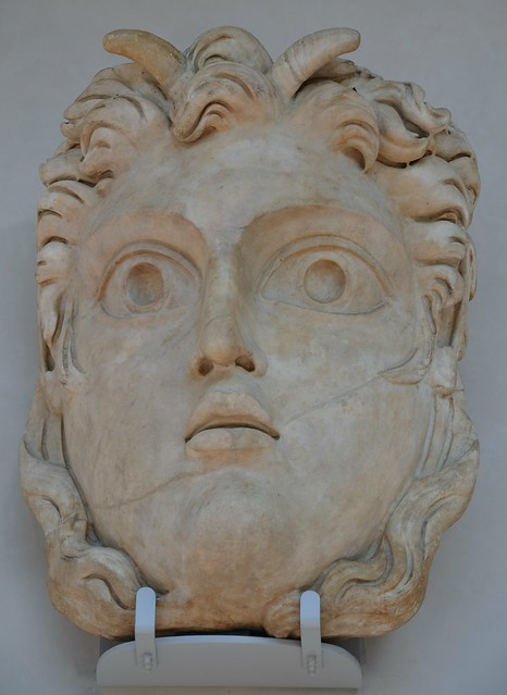 Theatrical mask of Pan, National Museum of Rome, Baths of Diocletian