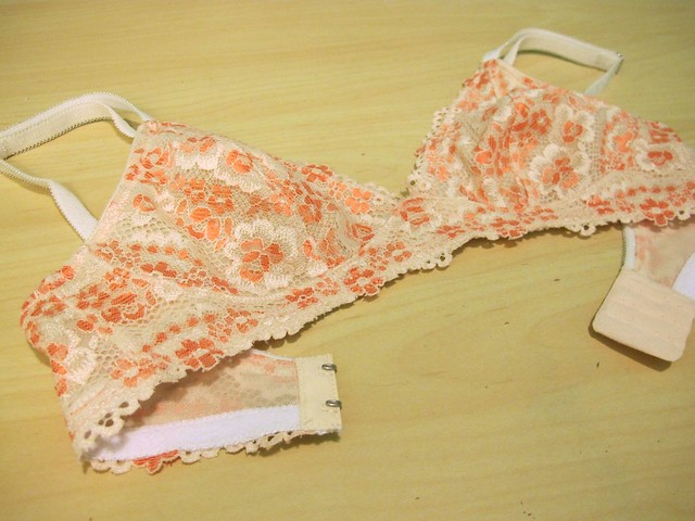 Peach Lace Watson Bra