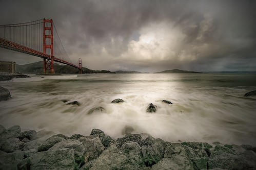 sanfrancisco california longexposure travel bridge storm classic architecture landscape bay day cityscape view goldengate ndfilter nikond5300