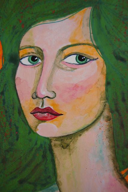Week 2 Portrait with unusual colour palette