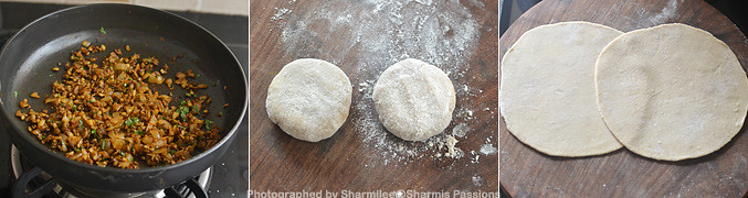 How to make Mushroom paratha - Step2