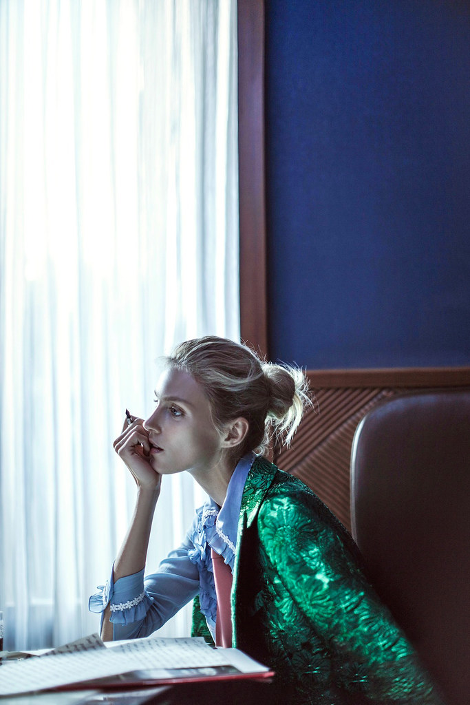 Аня Рубик — Фотосессия для «Vogue» CH 2016 – 4