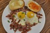 Mmm... prosciutto and eggs with toast