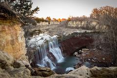 Cowley Lake Waterfall