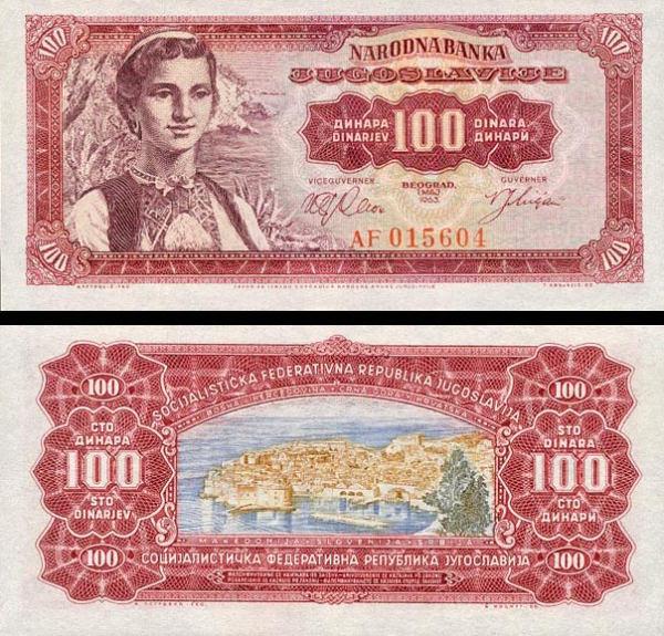 Yugoslavia p73a: 100 Dinara from 1963
