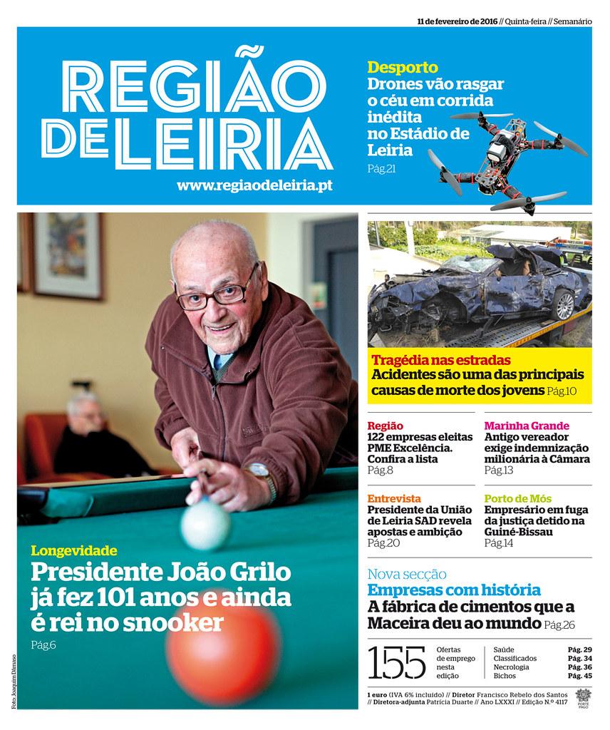 Capa Regiao de Leiria edição 4117 de 11 de fevereiro 2016.jpg