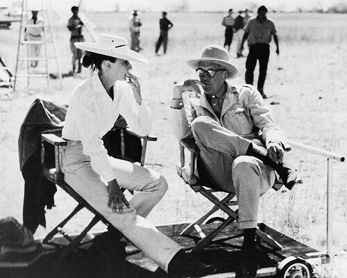 The Unforgiven - Backstage - Audrey Hepburn and John Huston