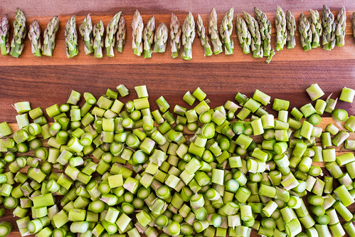 asparagus tips and slices