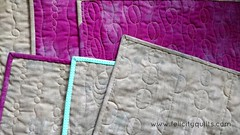 Quilting on my new placemats made with Mochi by Rashida Coleman-Hale for Cotton + Steel.