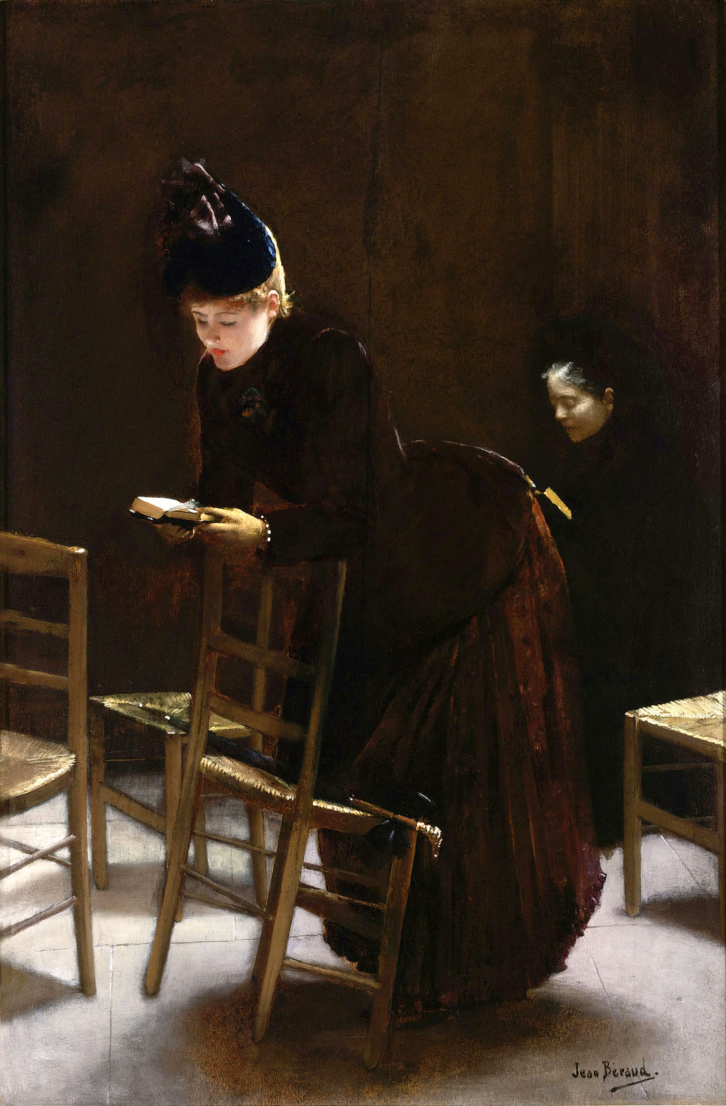 Woman in Prayer by Jean-Georges Béraud, 1877