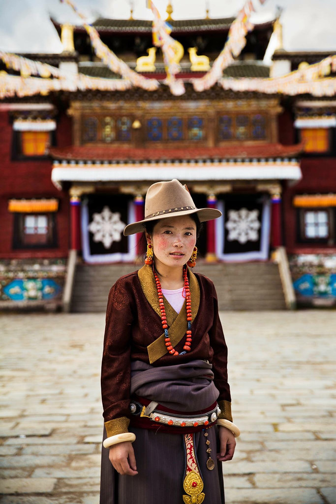 Portrait de femme, Tibet Photo: Mihaela Noroc