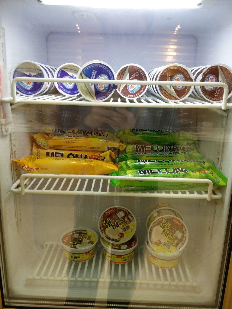 Ice cream in the fridge