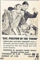 Sgt Preston ad, 1958