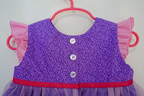 Rapunzel Inspired Geranium Dress