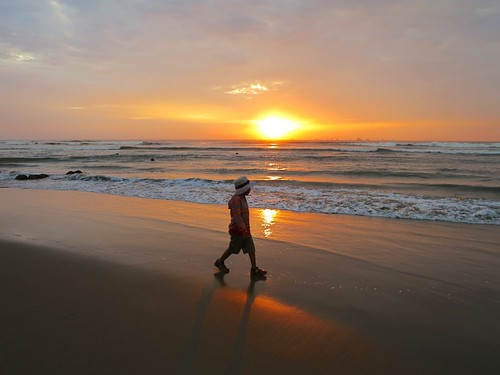 ocean travel sunset sea people costa seascape beach peru southamerica coast sundown playa wanderlust chiclayo lambayeque pimentel