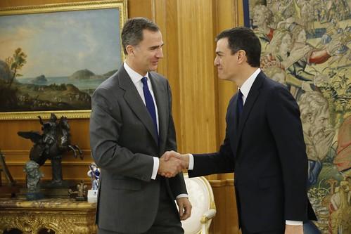 Reunión de Pedro Sánchez con el rey Felipe VI