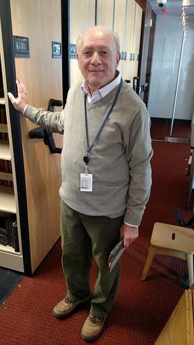 Arnie Tescher ANS Rare Book Roon stacks