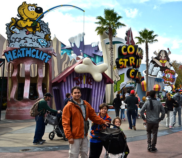 comic strip area - Universal Studios in Florida