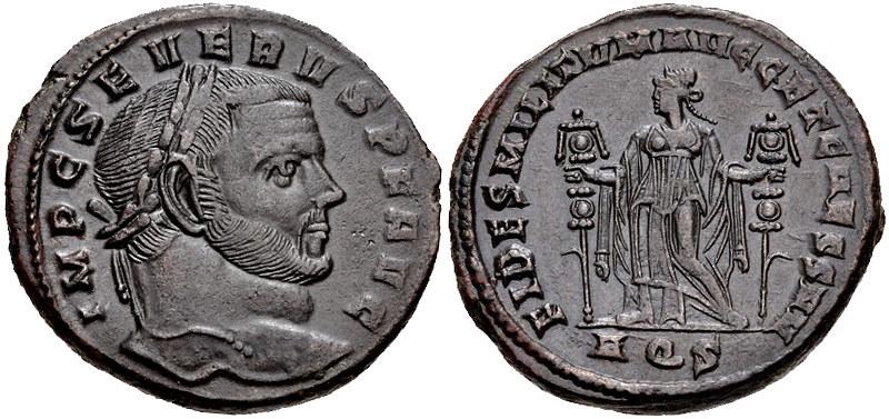 Depiction of Severus II on Follis