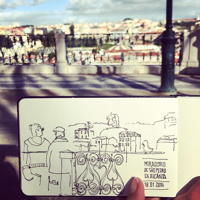 Earlier today, #asketchaday in #Lisboa