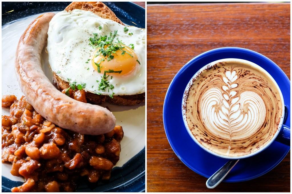 Atlas Coffeehouse: Bacon, Beans & Sausage & Cappuccino