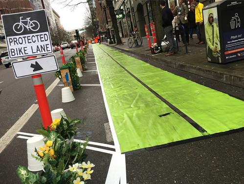 Pop-up bikeway on SW Broadway-2.jpg