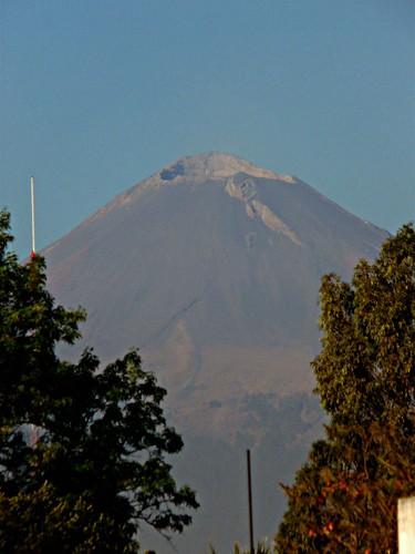 On top of the main pyramid. Cantona, Puebla, Mexico