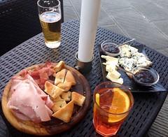 Aperol Spritz, beer, Italian cheese, jam, prosciut…