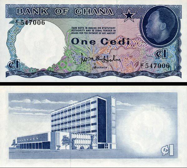 1 Cedi Ghana 1965, P5a