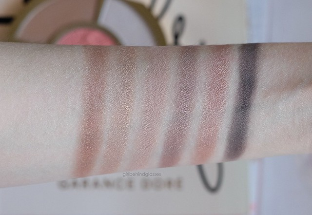 Tarte Showstopper Palette eyeshadow swatches