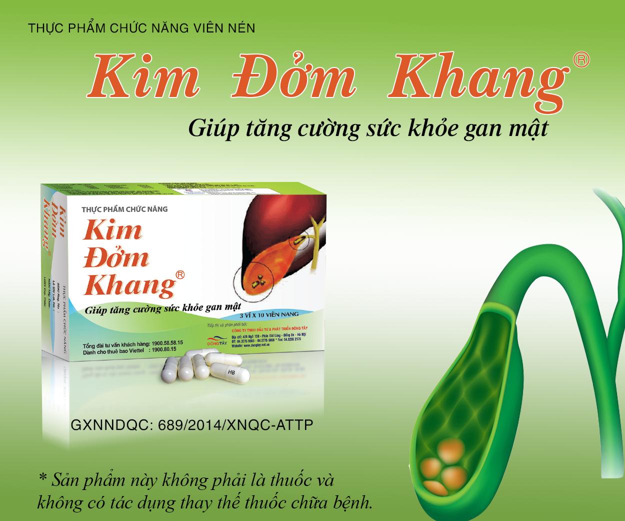 Kim Đởm Khang - Tức cường sức khỏe gan mật