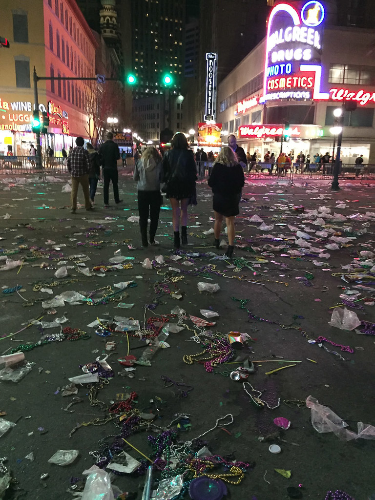 Streets after Mardi Gras parades