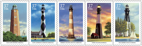 Koslow's lighthouse stamps