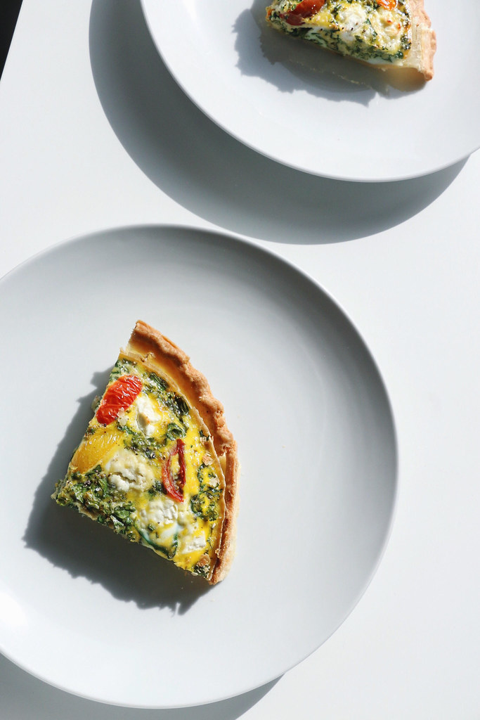 kale & goat cheese quiche 6